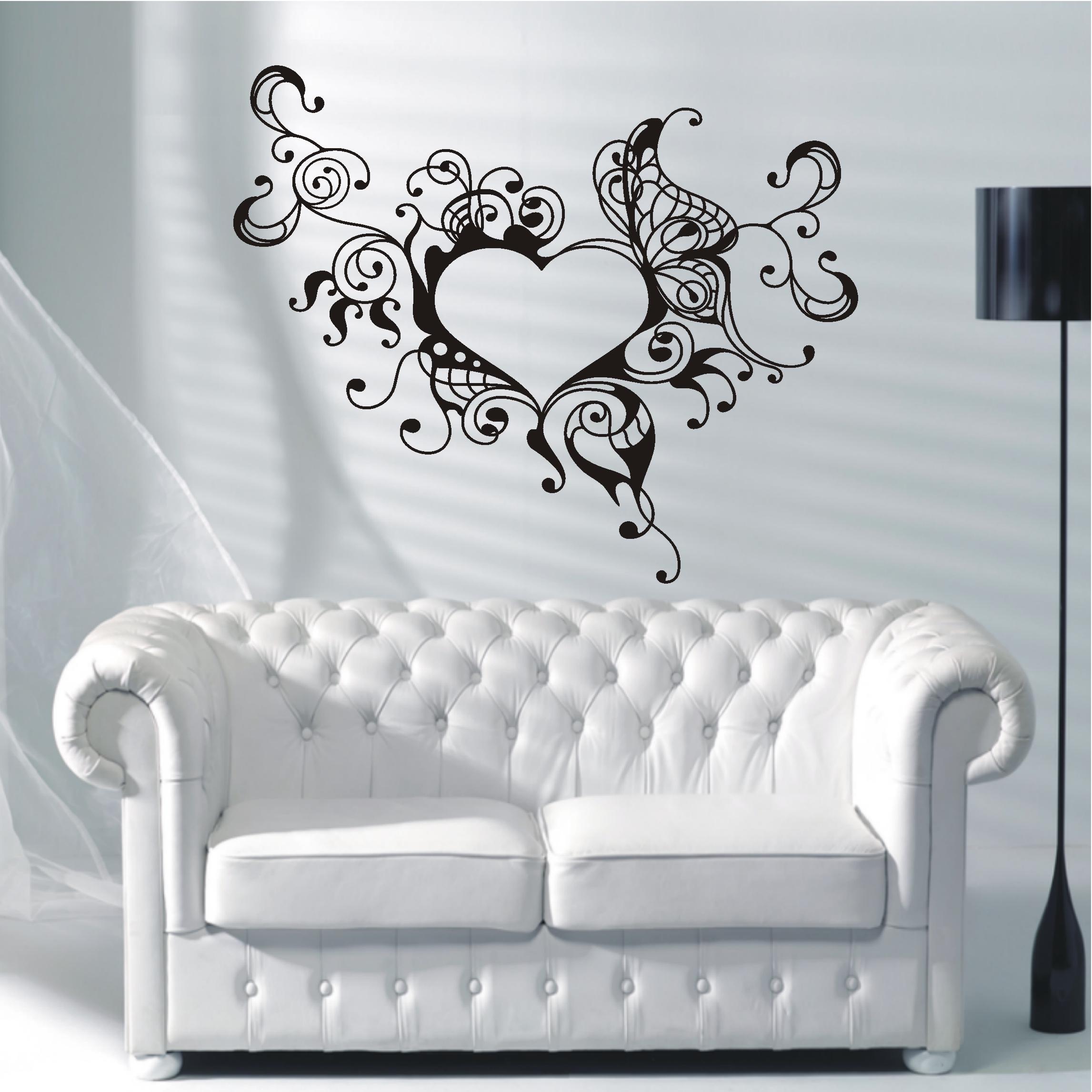 deko shop wandtattoo herz ornament deko shop. Black Bedroom Furniture Sets. Home Design Ideas