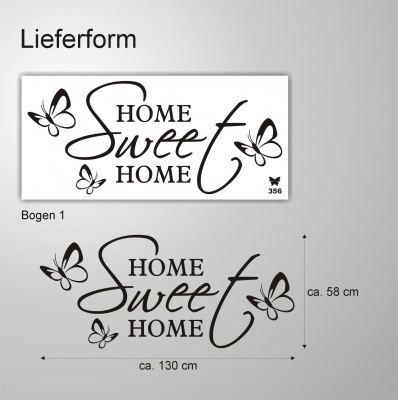 Deko shop wandtattoo home sweet home deko shop for Home deko shop