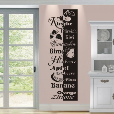 deko shop wandtattoo banner obst deko shop. Black Bedroom Furniture Sets. Home Design Ideas