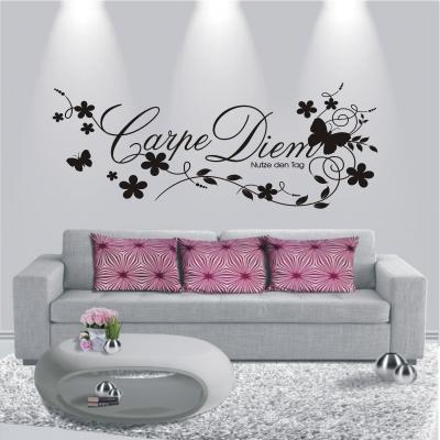 deko shop wandtattoo carpe diem deko shop. Black Bedroom Furniture Sets. Home Design Ideas
