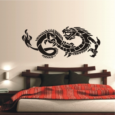 deko shop wandtattoo tribal drache deko shop. Black Bedroom Furniture Sets. Home Design Ideas
