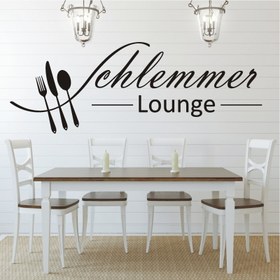 deko shop wandtattoo schlemmer lounge deko shop. Black Bedroom Furniture Sets. Home Design Ideas