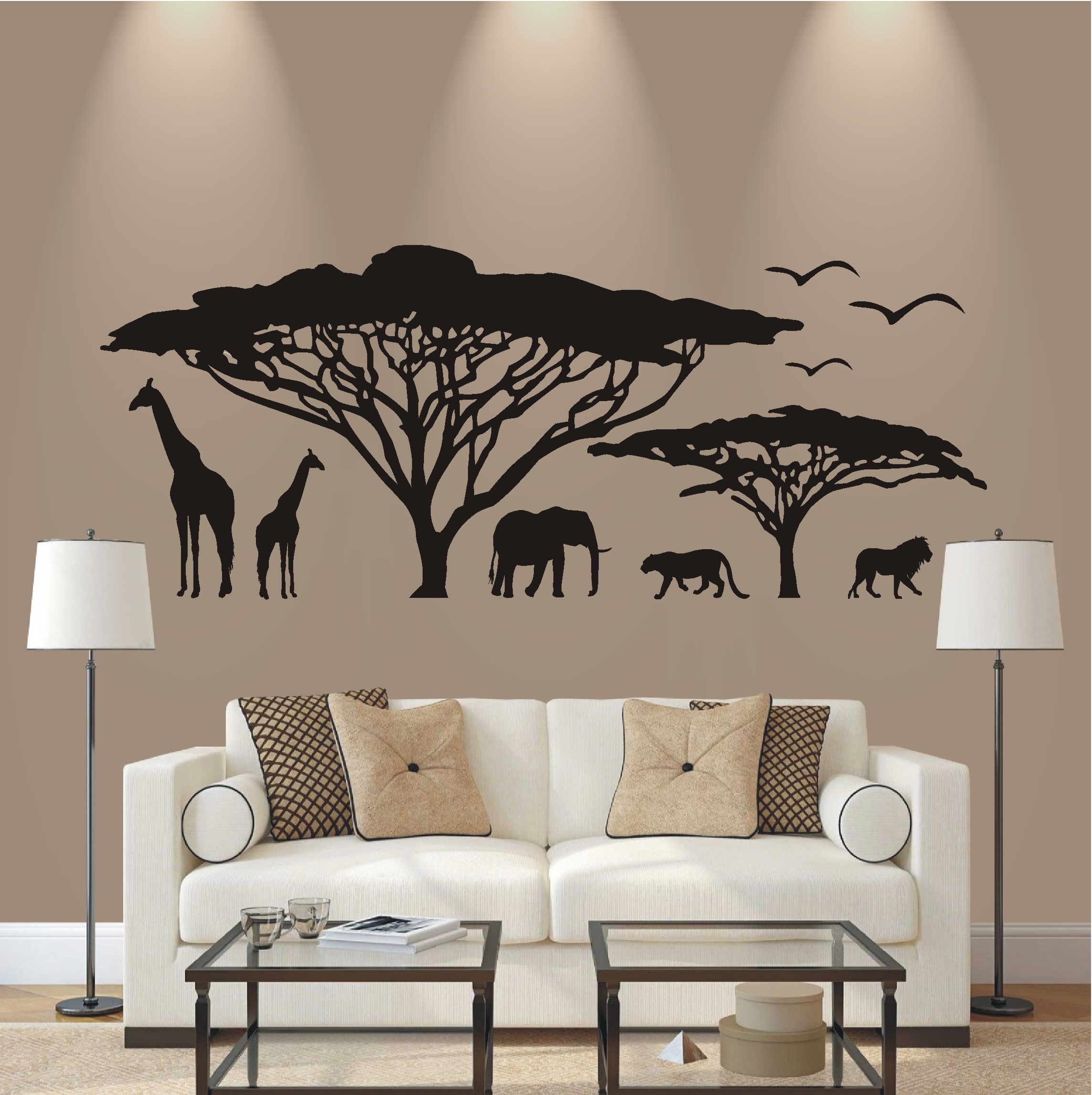 deko shop wandtattoo afrika landschaft deko shop. Black Bedroom Furniture Sets. Home Design Ideas