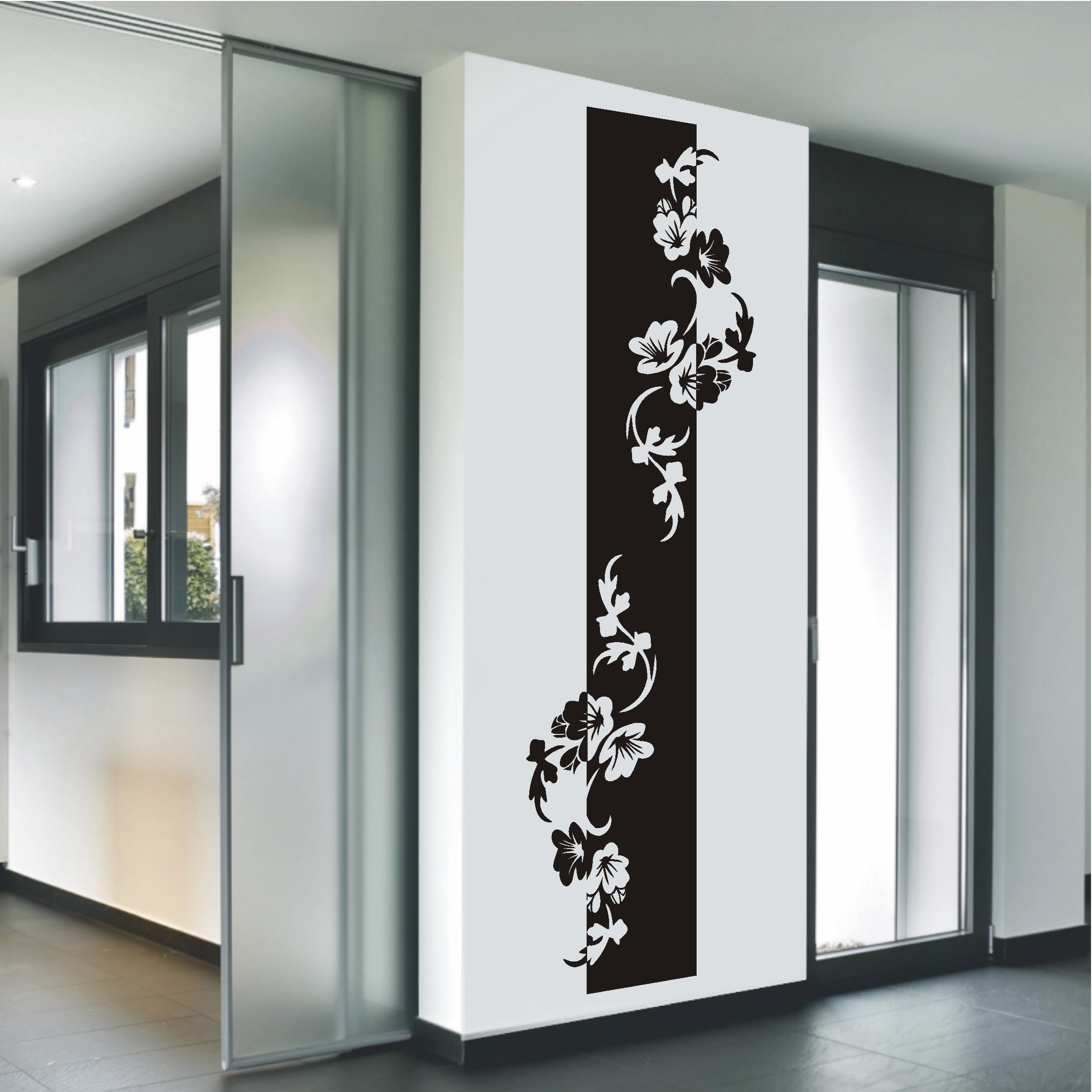 deko shop wandtattoo banner hibiskus ranke deko shop. Black Bedroom Furniture Sets. Home Design Ideas