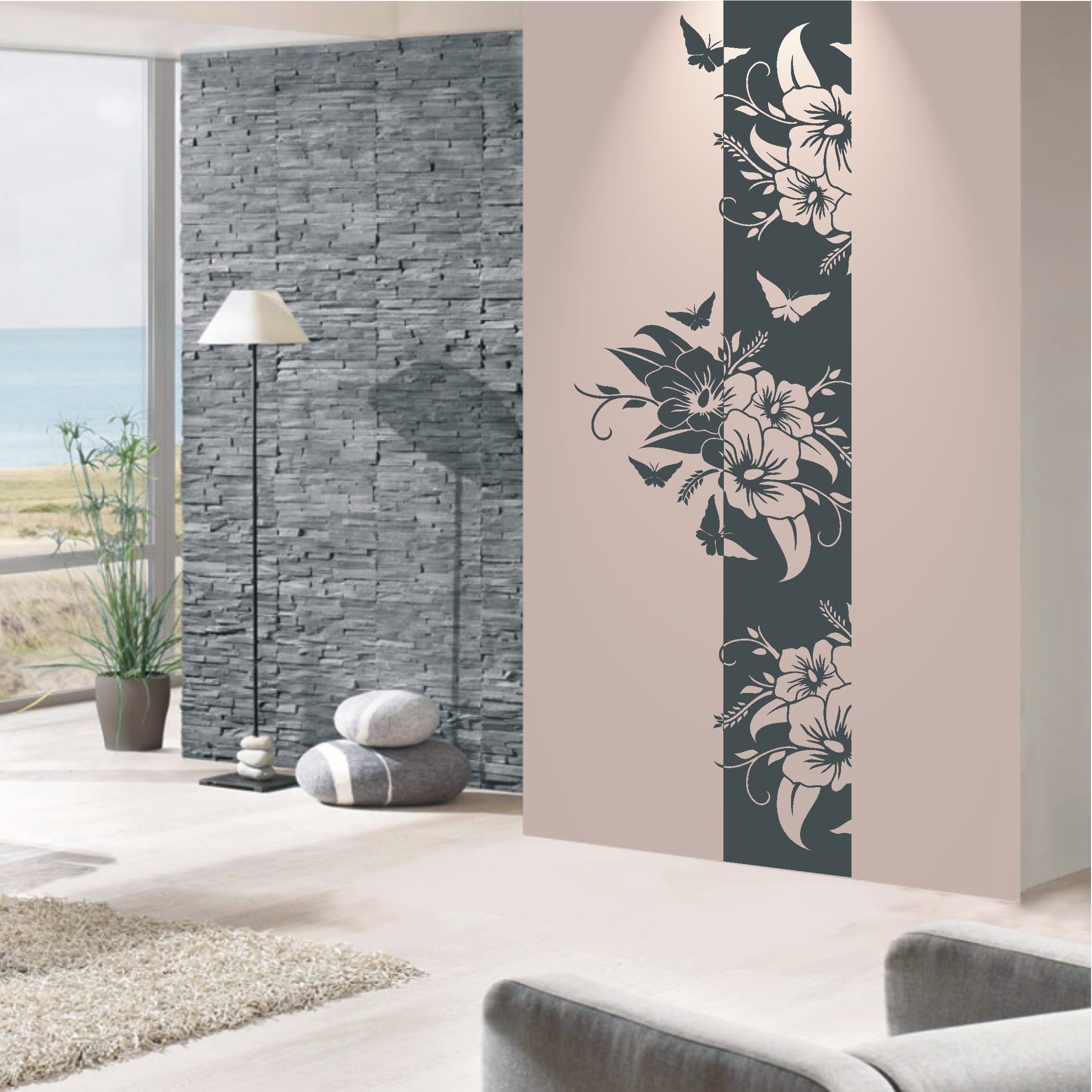 deko shop wandtattoo banner hibiskus deko shop. Black Bedroom Furniture Sets. Home Design Ideas
