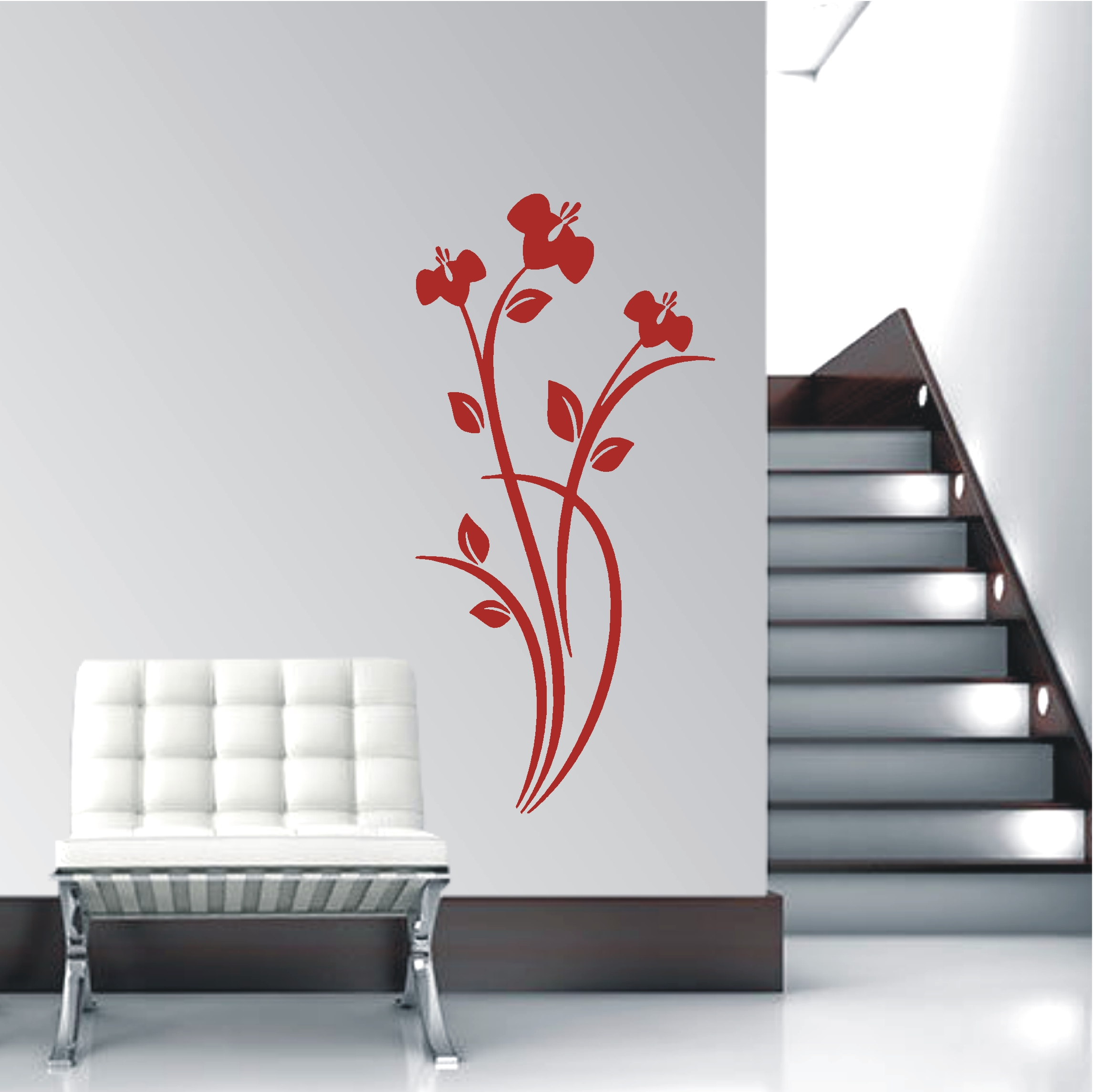 deko shop wandtattoo blumen ornament deko shop. Black Bedroom Furniture Sets. Home Design Ideas