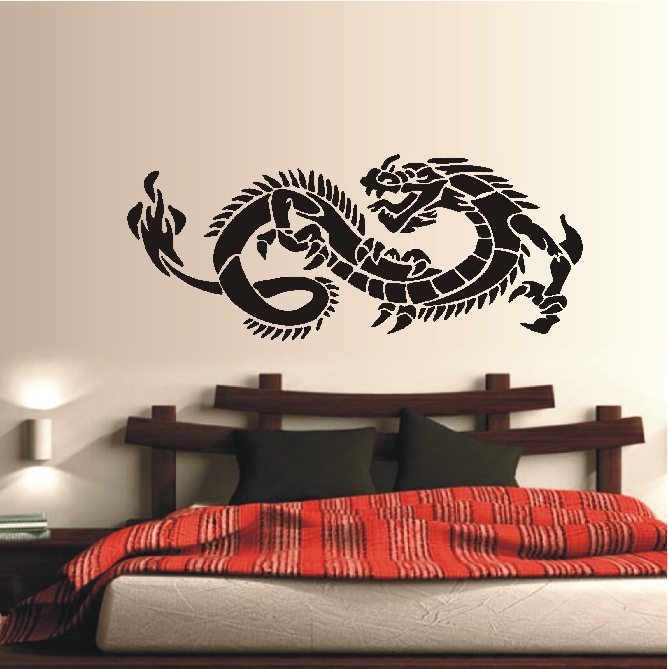 deko shop wandtattoo tribal drache deko shop. Black Bedroom Furniture Sets. Home Design Ideas