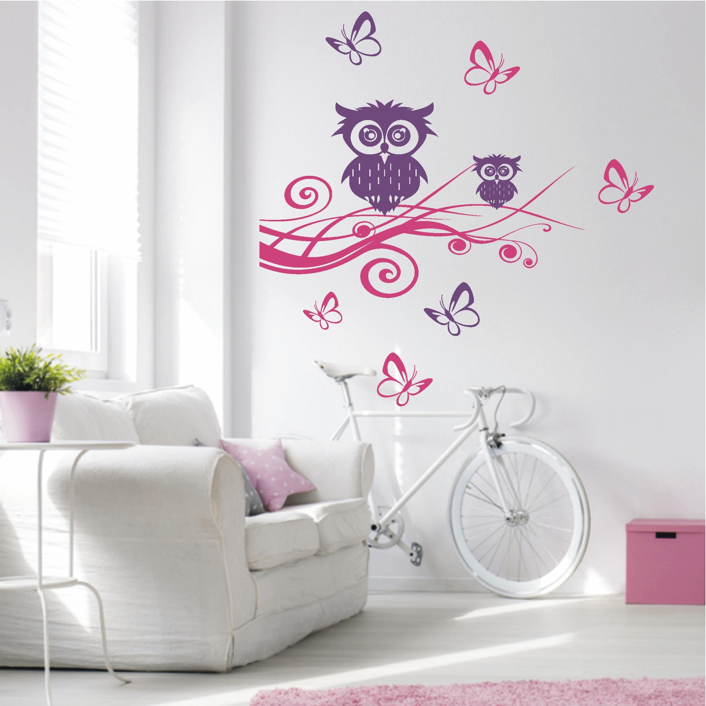 deko shop wandtattoo eulen auf ast deko shop. Black Bedroom Furniture Sets. Home Design Ideas