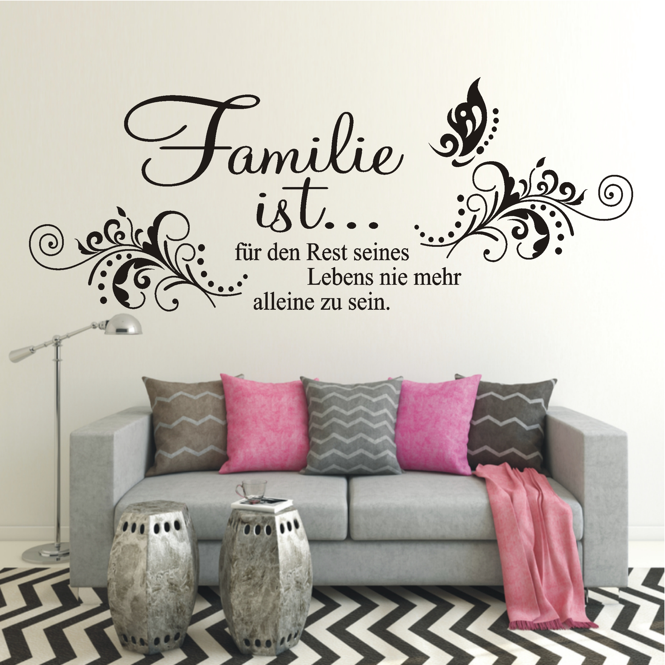deko shop wandtattoo familie ist deko shop. Black Bedroom Furniture Sets. Home Design Ideas