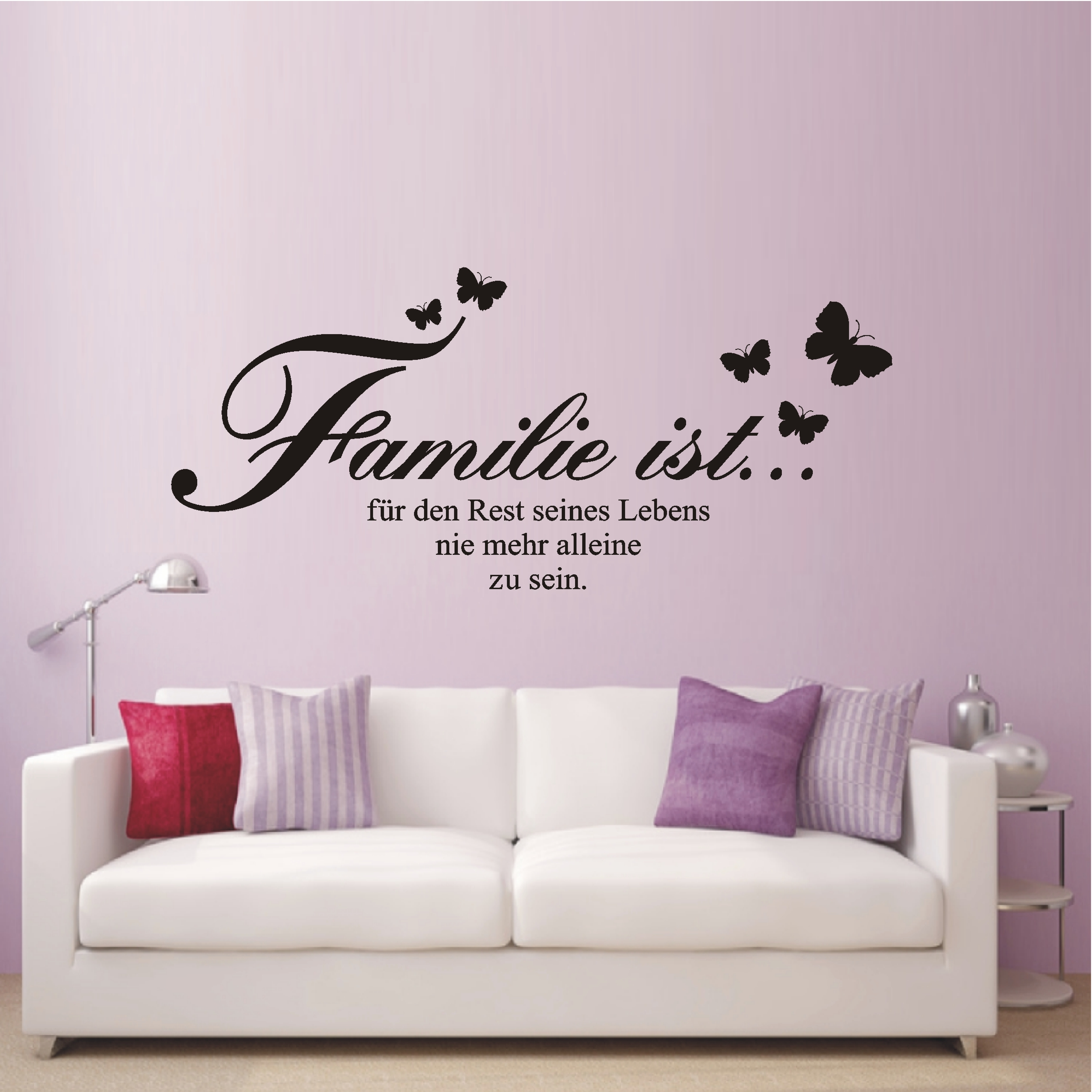 deko shop wandtattoo familie ist spruch deko shop. Black Bedroom Furniture Sets. Home Design Ideas