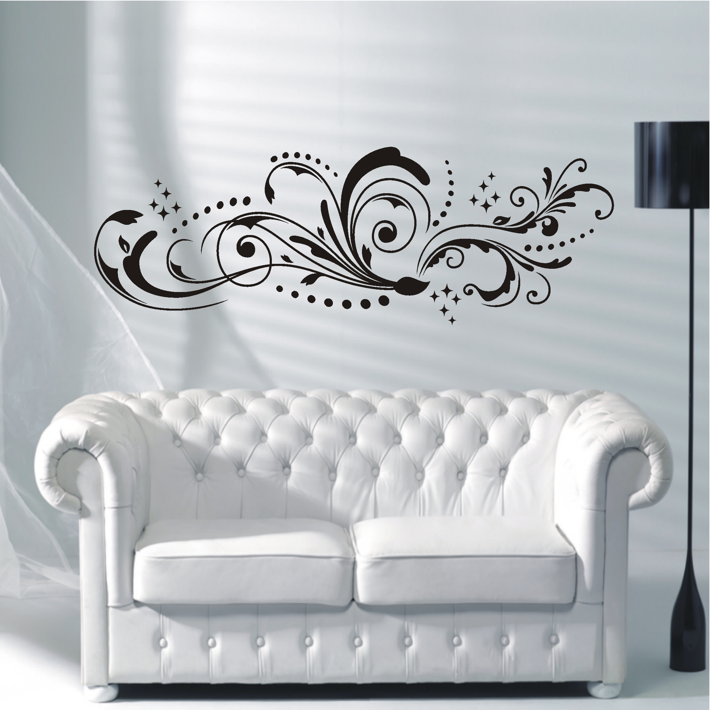 deko shop wandtattoo florales ornament deko shop. Black Bedroom Furniture Sets. Home Design Ideas