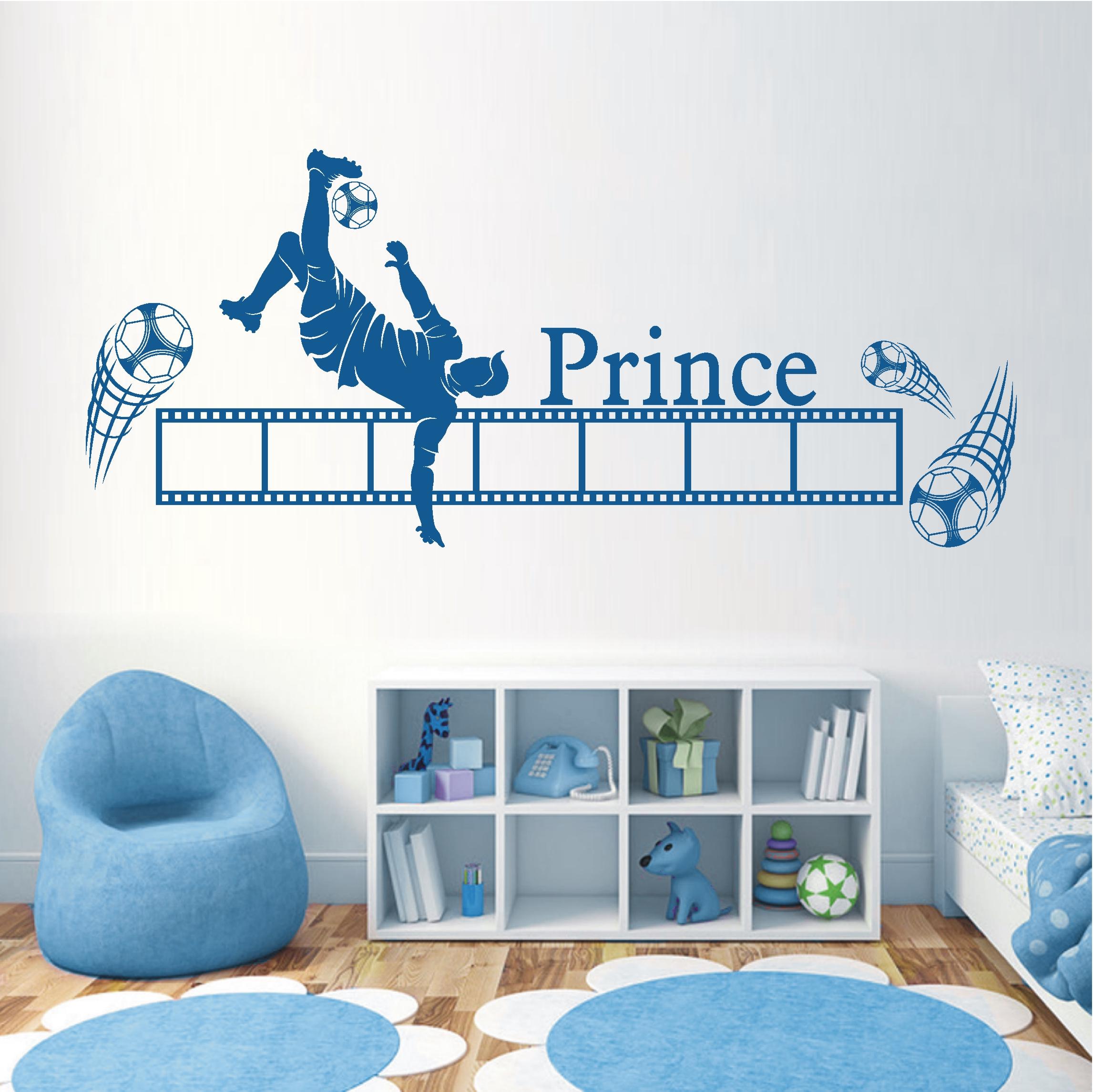 deko shop wandtattoo rahmen fu ball deko shop. Black Bedroom Furniture Sets. Home Design Ideas