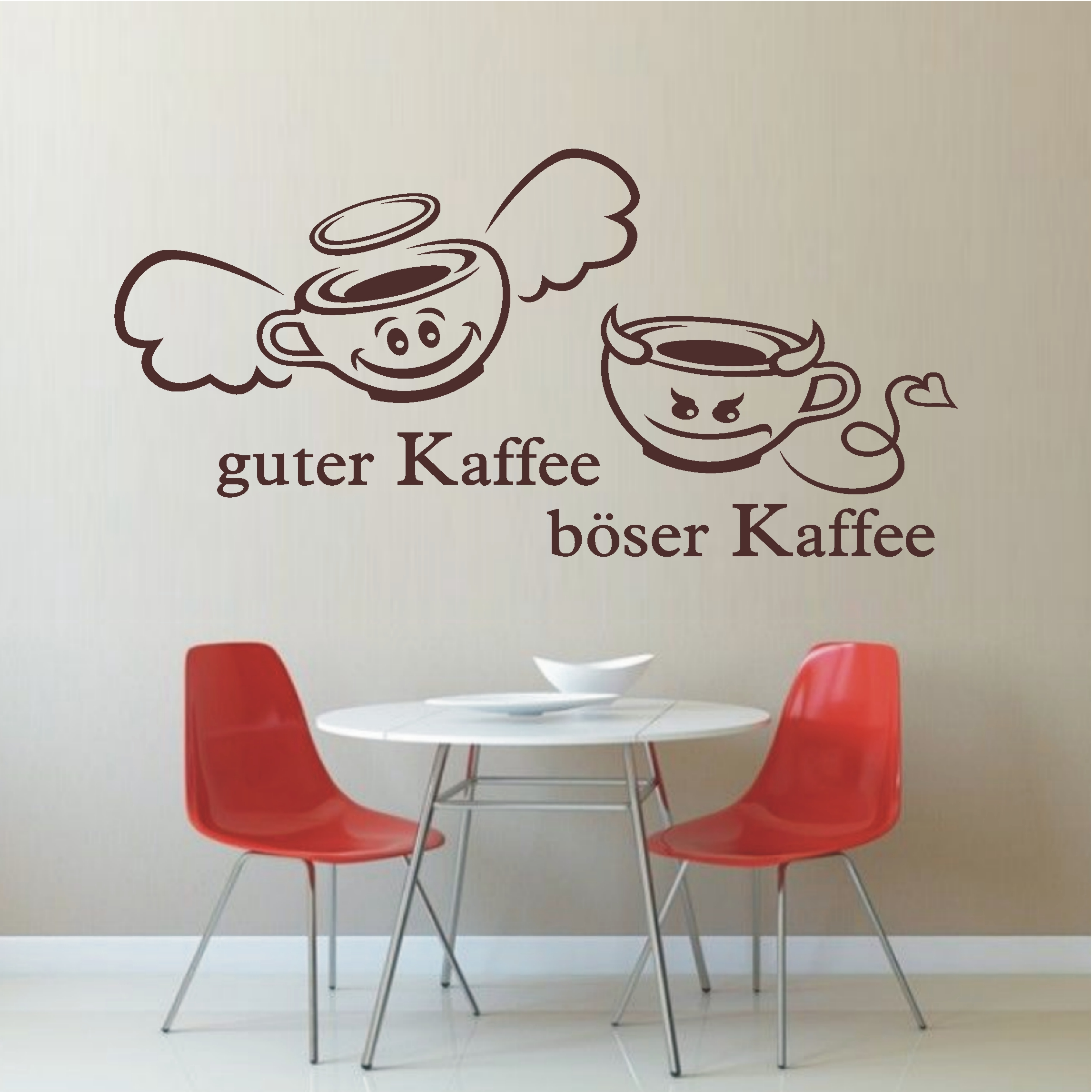 deko shop wandtattoo guter b ser kaffee deko shop. Black Bedroom Furniture Sets. Home Design Ideas