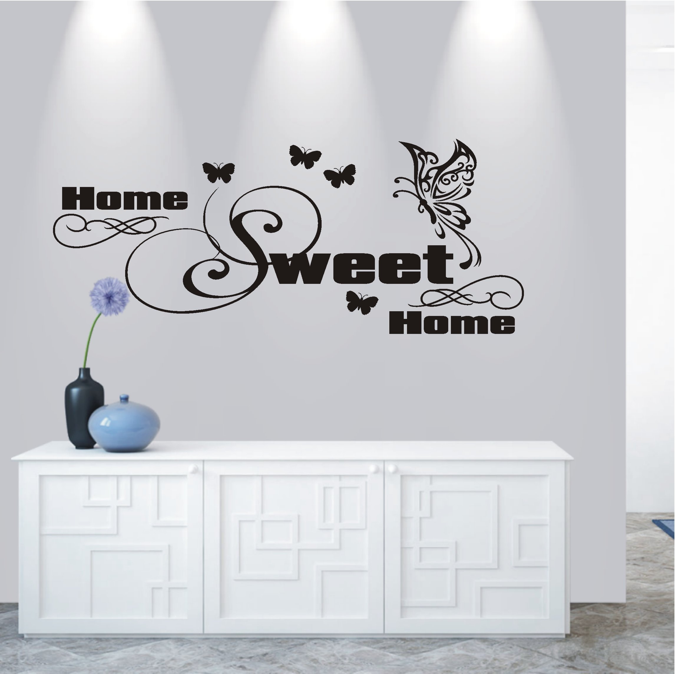 Gewaltig Wandtattoo Home Sweet Home Galerie Von Deko-shop-24.de-wandtattoo-home