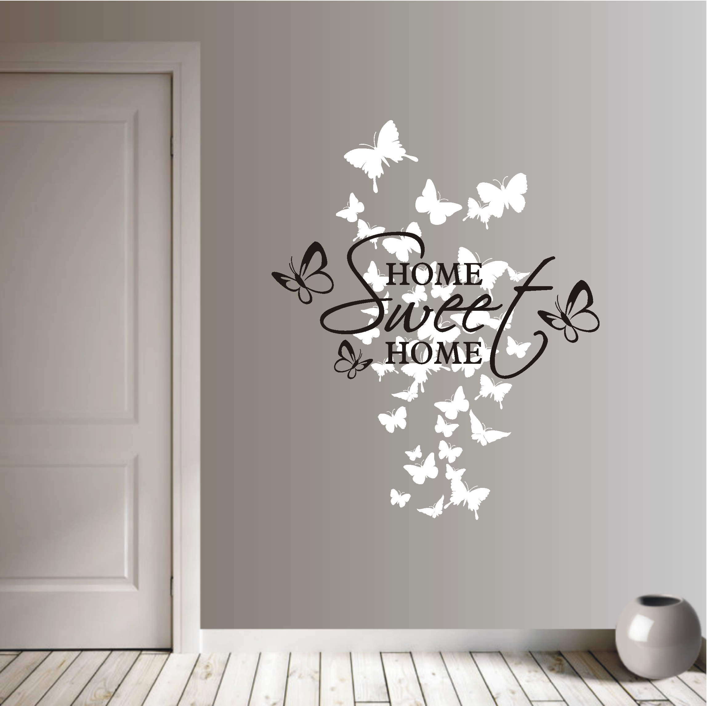 Deko Shop Wandtattoo Home Sweet Home 2 Farbig Deko
