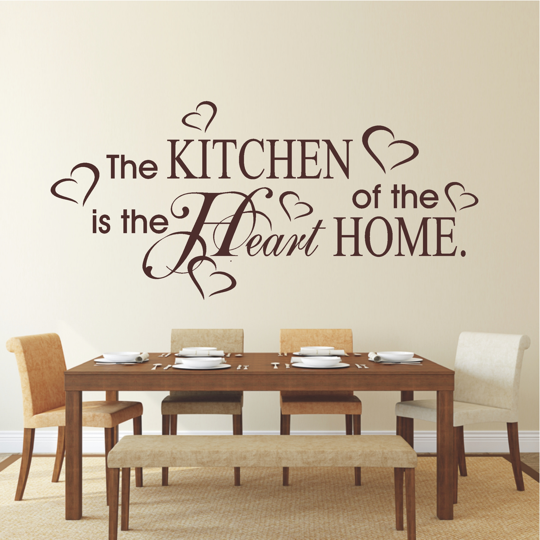 Deko shop wandtattoo kitchen heart home deko shop for Home deko shop
