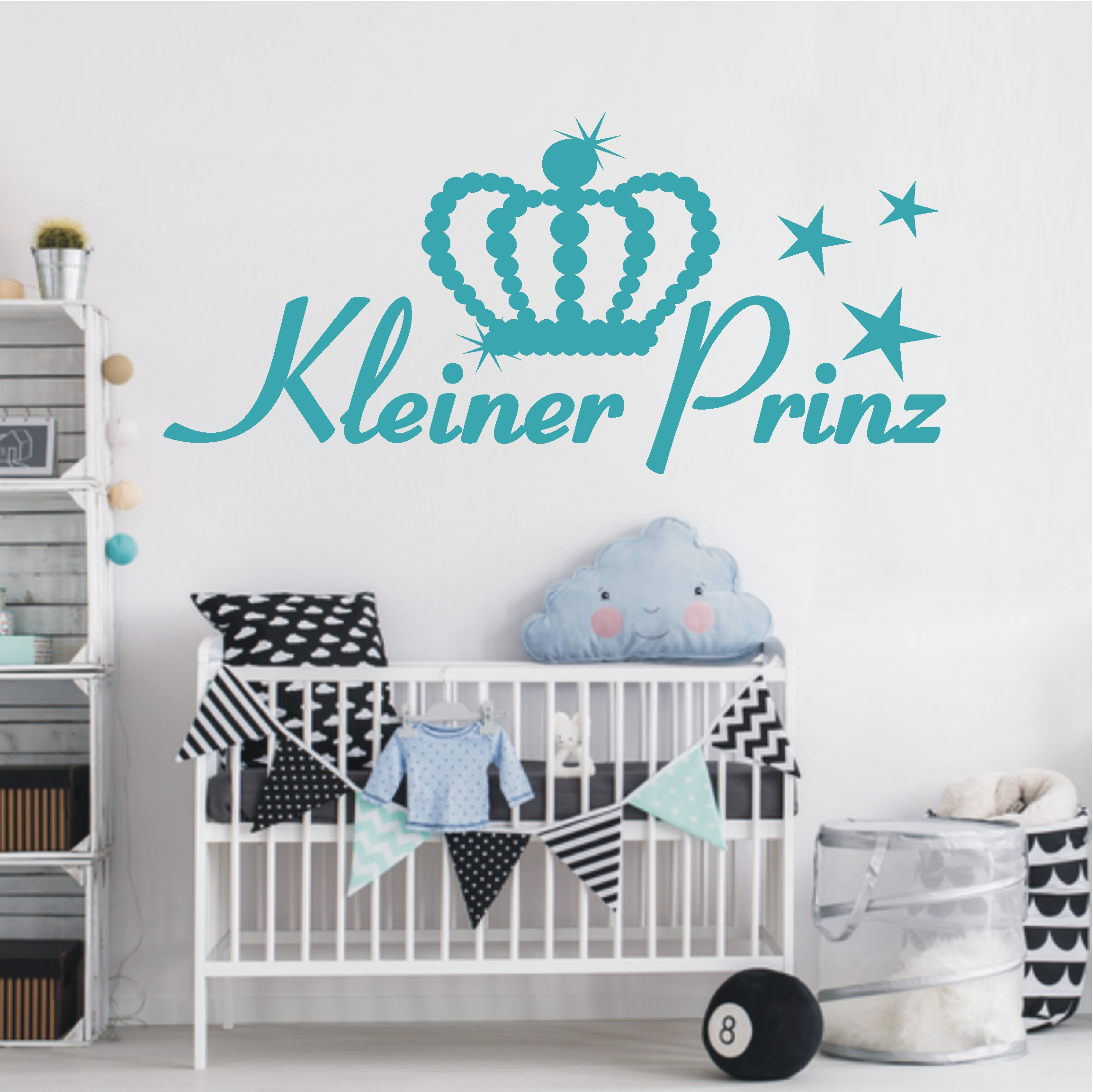 deko shop wandtattoo kleiner prinz schriftzug deko. Black Bedroom Furniture Sets. Home Design Ideas