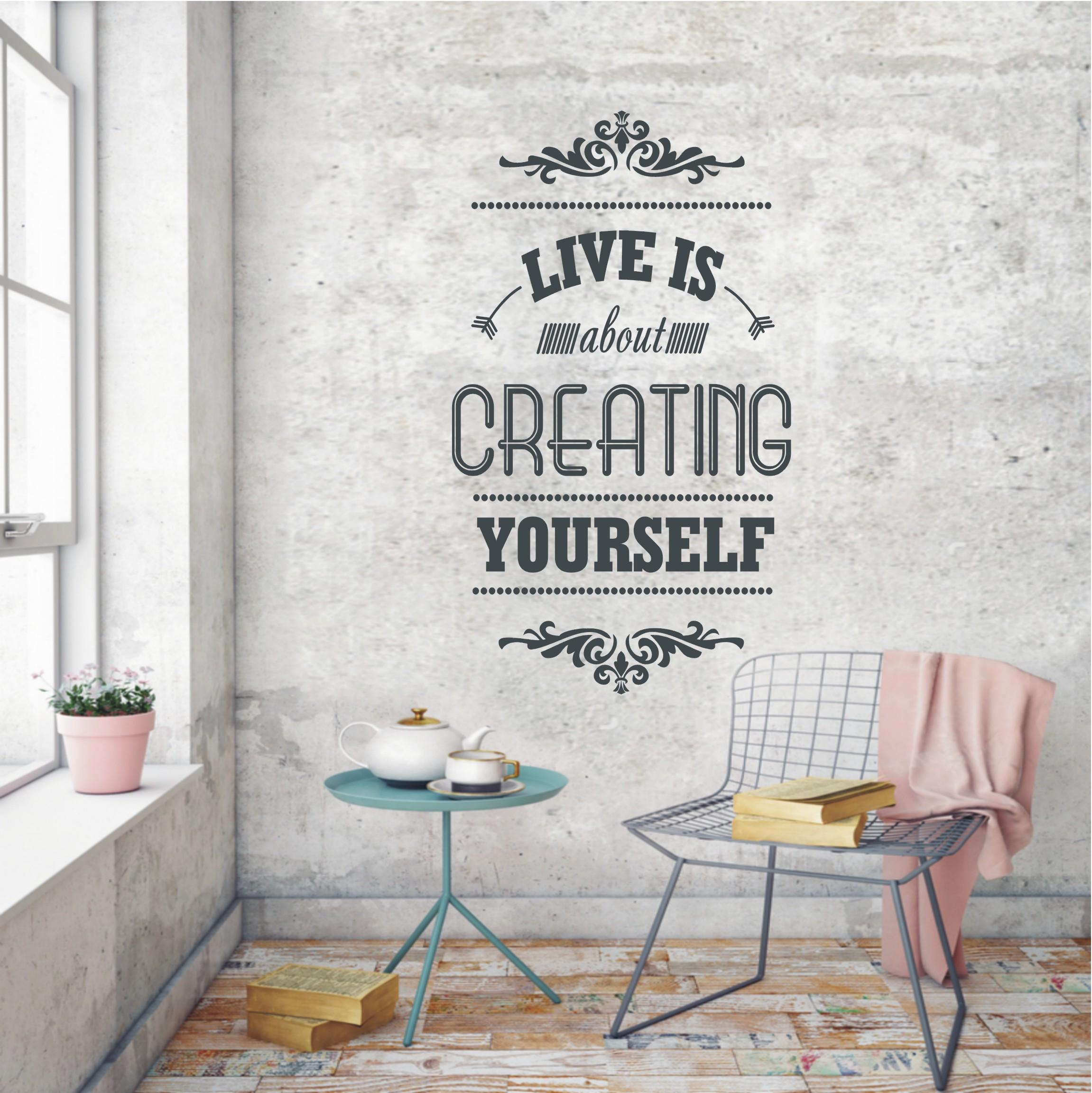wandtattoo-live-is-creating-yourself-773 Erstaunlich Wohnzimmer Deko Online Shop Dekorationen