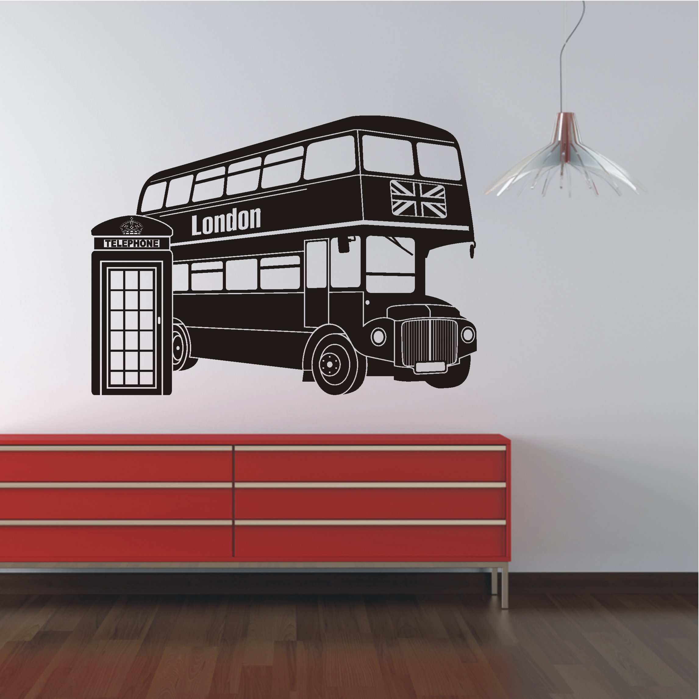 deko shop wandtattoo london bus deko shop. Black Bedroom Furniture Sets. Home Design Ideas
