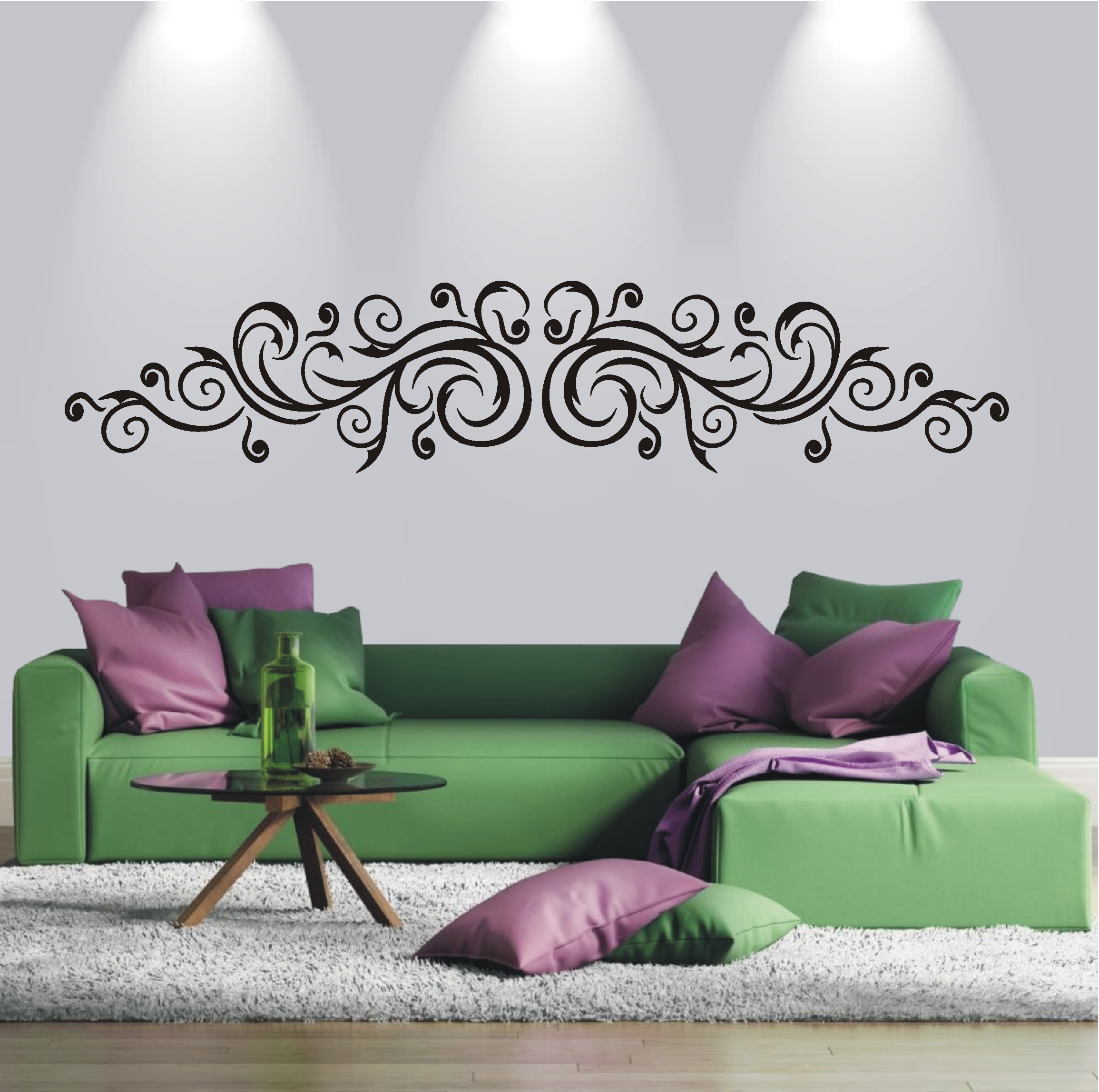deko shop wandtattoo schn rkel ornament deko shop. Black Bedroom Furniture Sets. Home Design Ideas