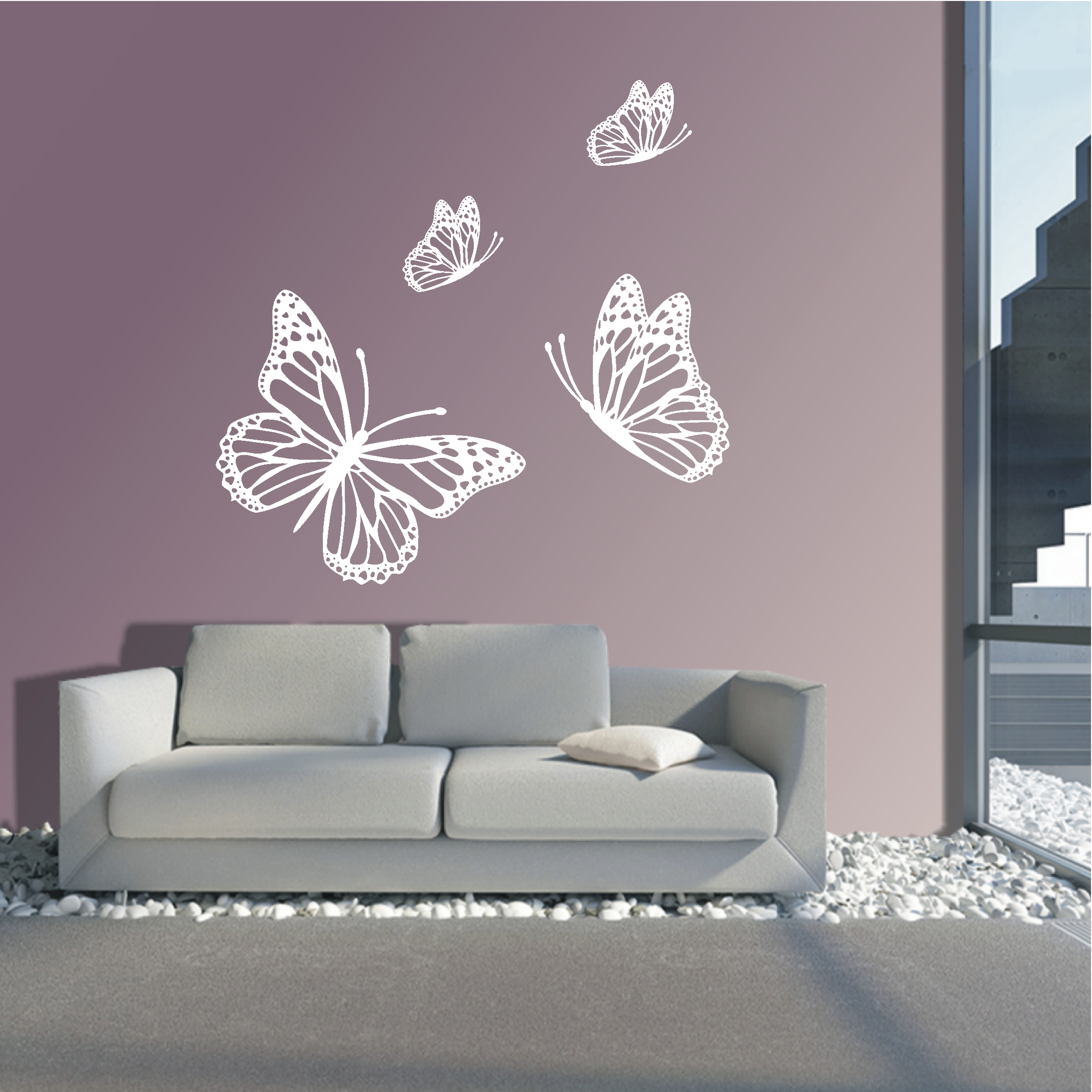 Deko Shop 24 De Wandtattoo Schmetterlinge Deko Shop 24 De