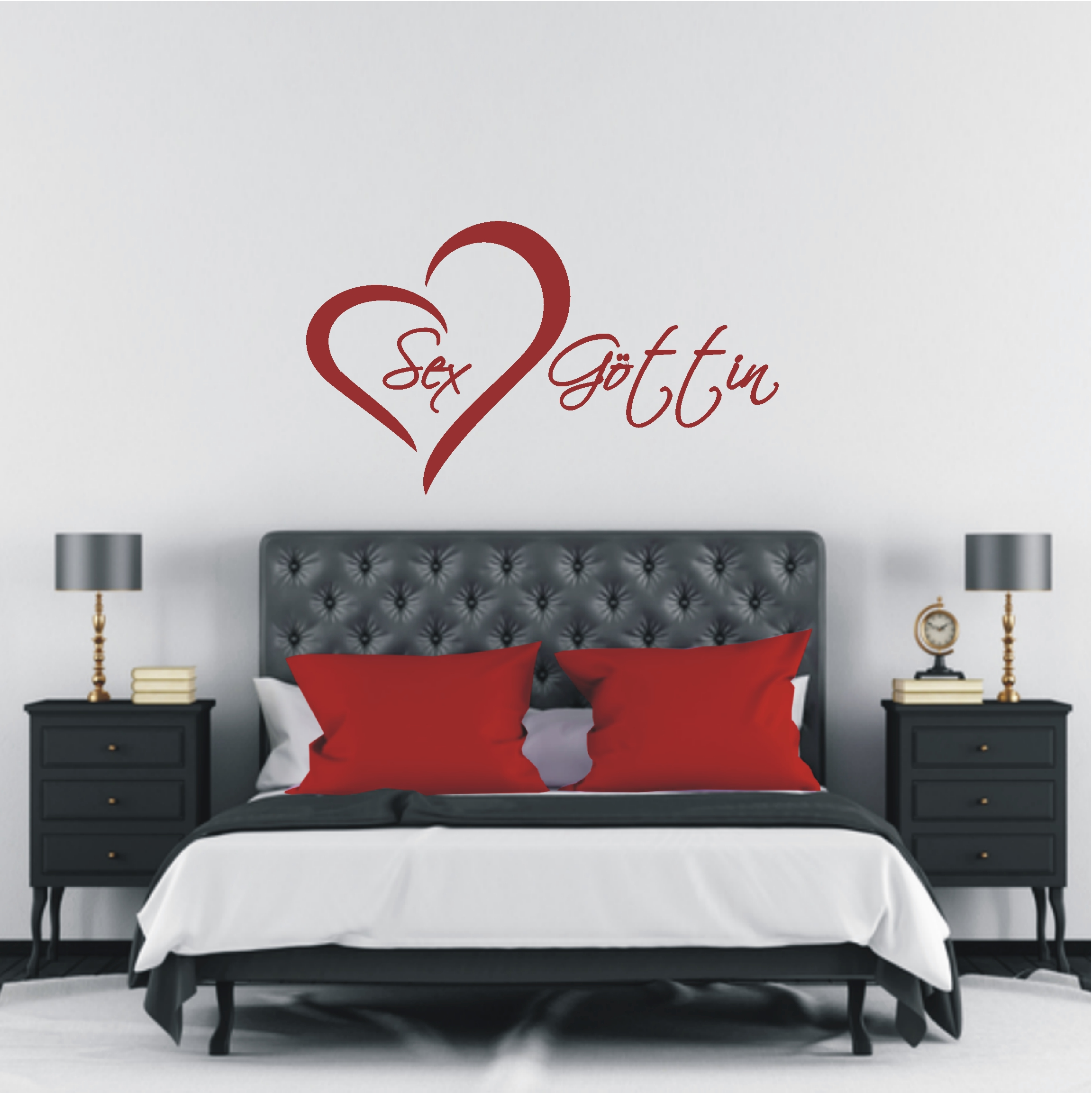 deko shop wandtattoo sex g ttin deko shop. Black Bedroom Furniture Sets. Home Design Ideas