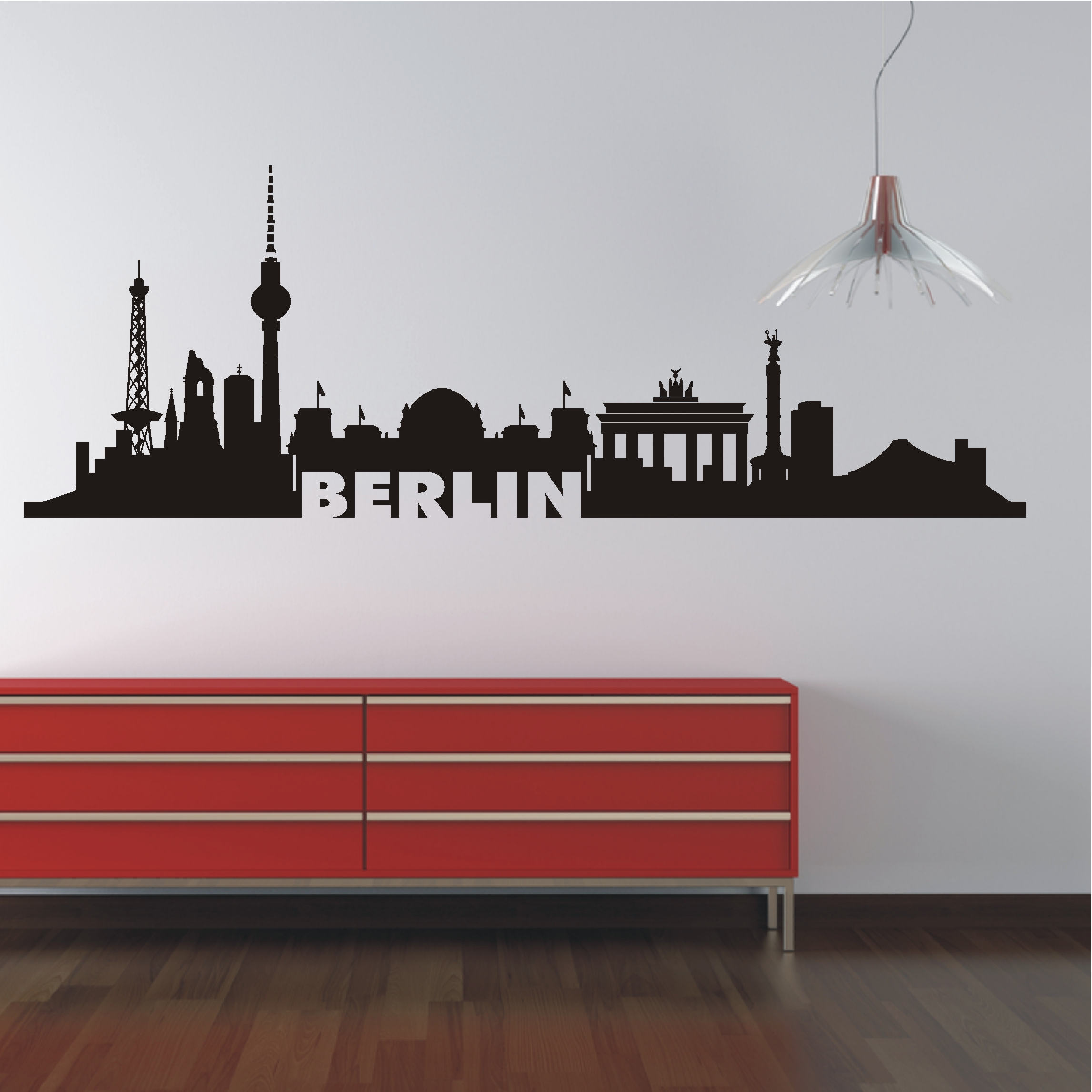 Deko Shop 24.de Wandtattoo Skyline Berlin