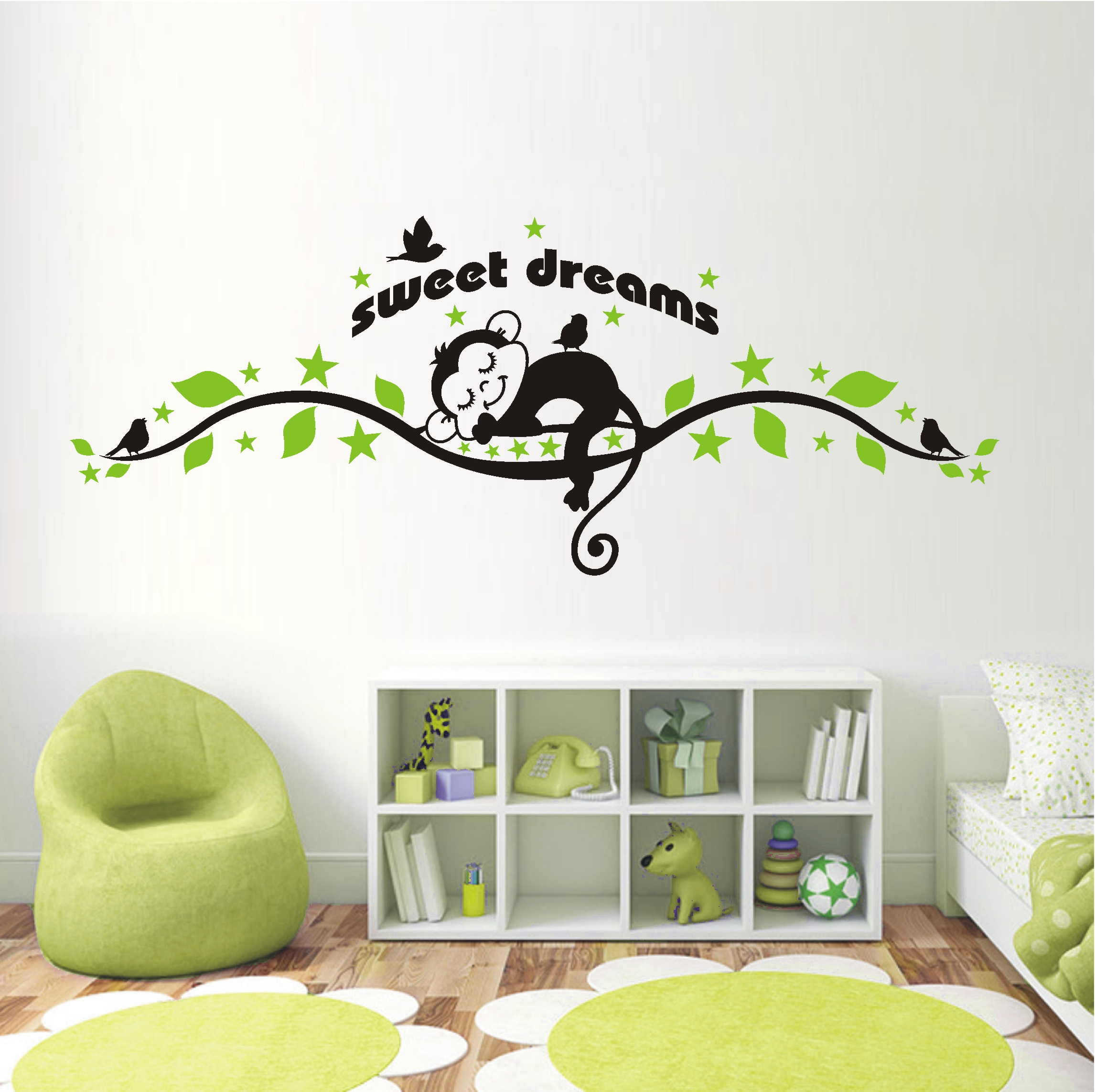 deko shop wandtattoo sweet dreams ffchen 2 farbig deko shop. Black Bedroom Furniture Sets. Home Design Ideas