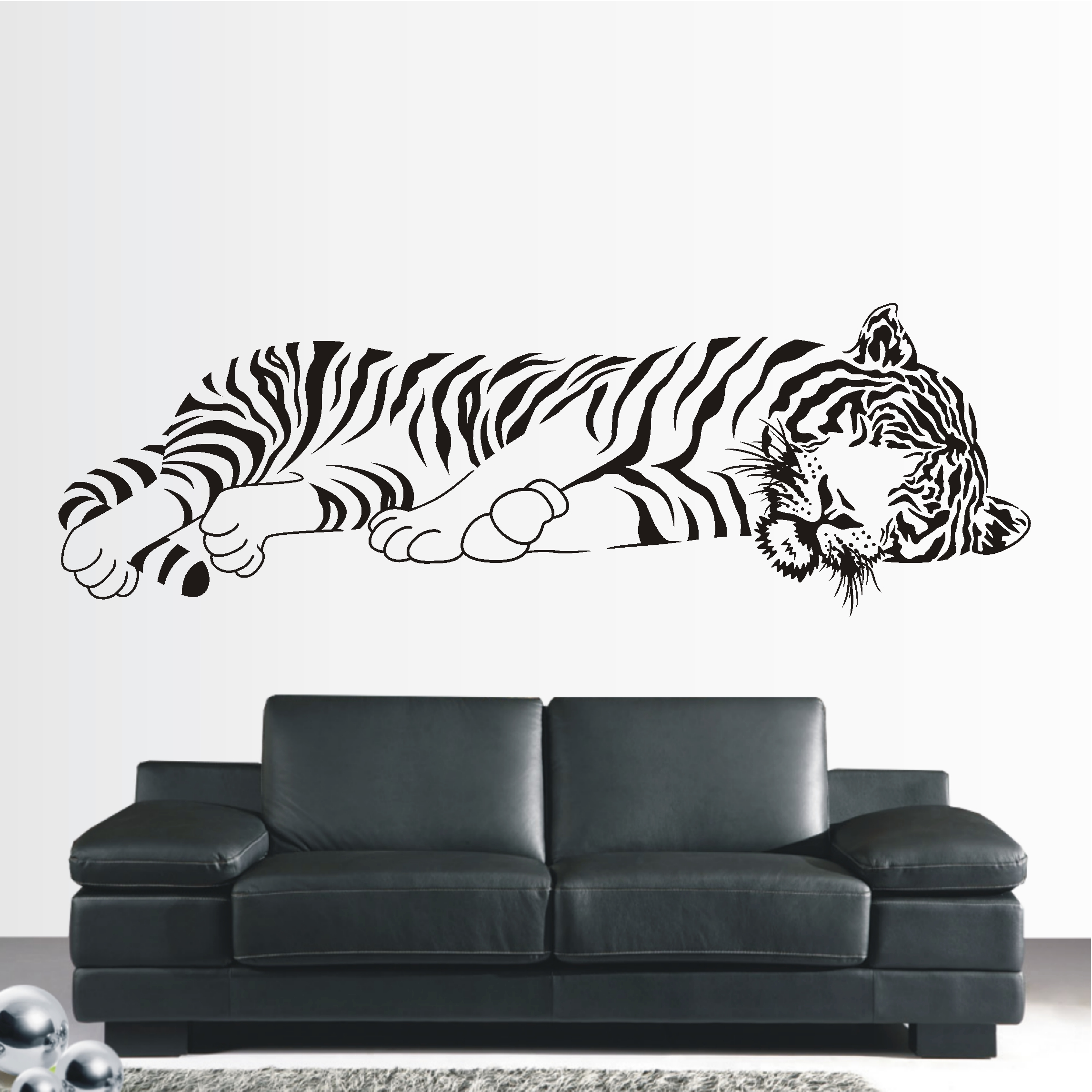 deko shop wandtattoo tiger liegend xxl deko shop. Black Bedroom Furniture Sets. Home Design Ideas