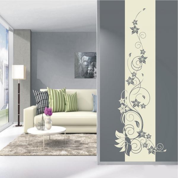 deko shop wandtattoo banner blumenranke deko shop. Black Bedroom Furniture Sets. Home Design Ideas