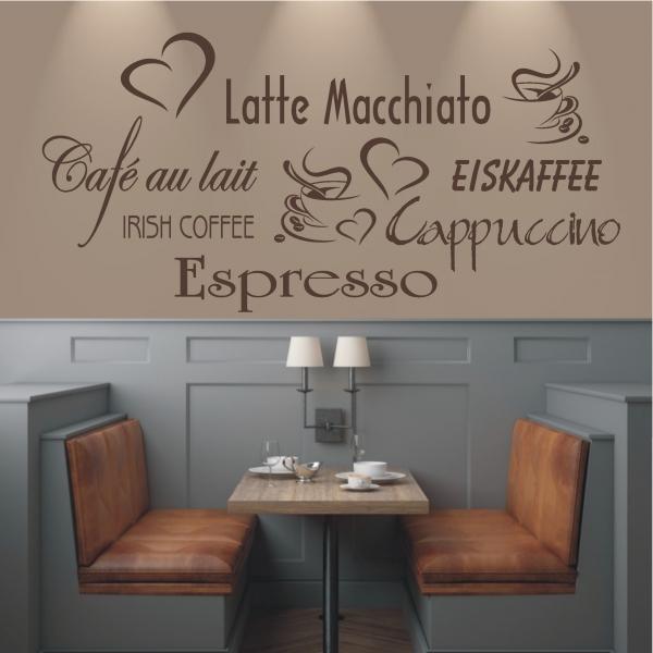 deko shop wandtattoo cappucino espresso latte deko shop. Black Bedroom Furniture Sets. Home Design Ideas