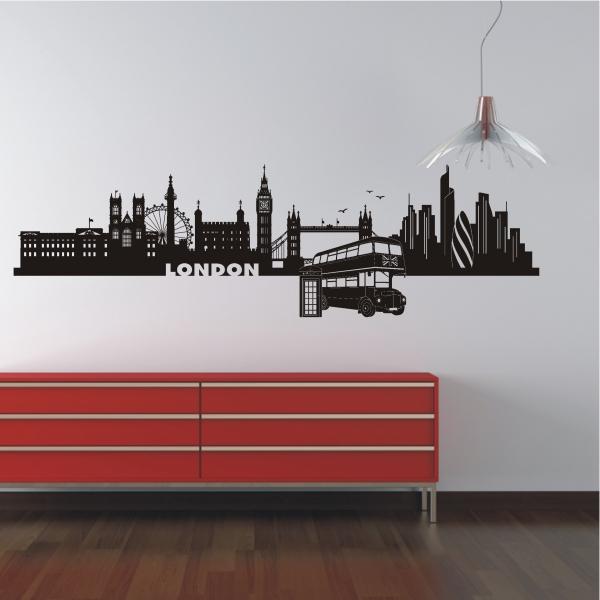 Deko shop wandtattoo skyline london deko shop - Skyline london wandtattoo ...